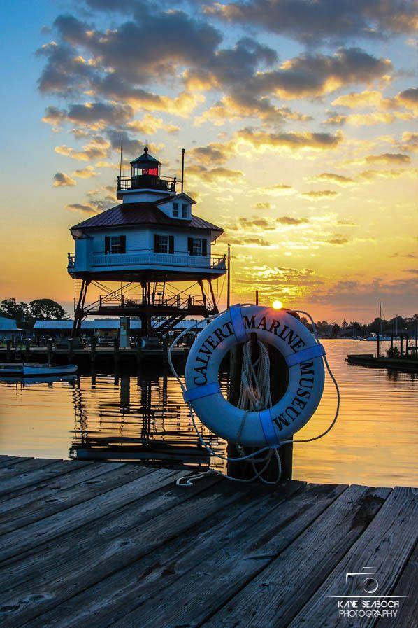 Drum Point Lighthouse, Calvert Marine, Solomons, Maryland, USA
