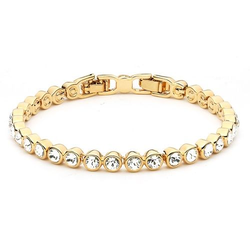 Tennis Bracelet with Swarovski® Crystals Gold Plated