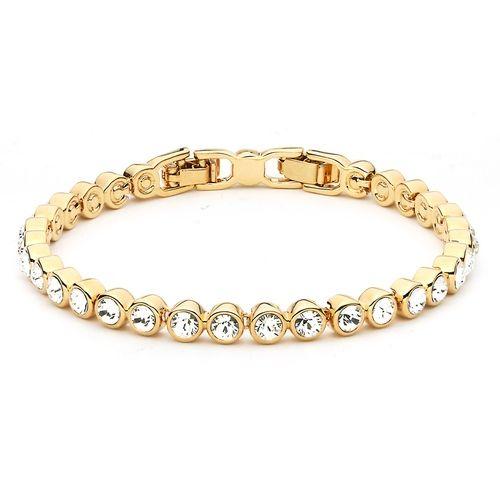 Tennis Bracelet with Swarovski® Crystals Gold Plated