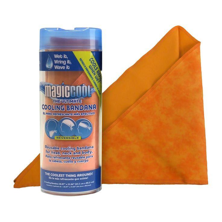 Magic Cool Bandana Orange Reversible Pattern