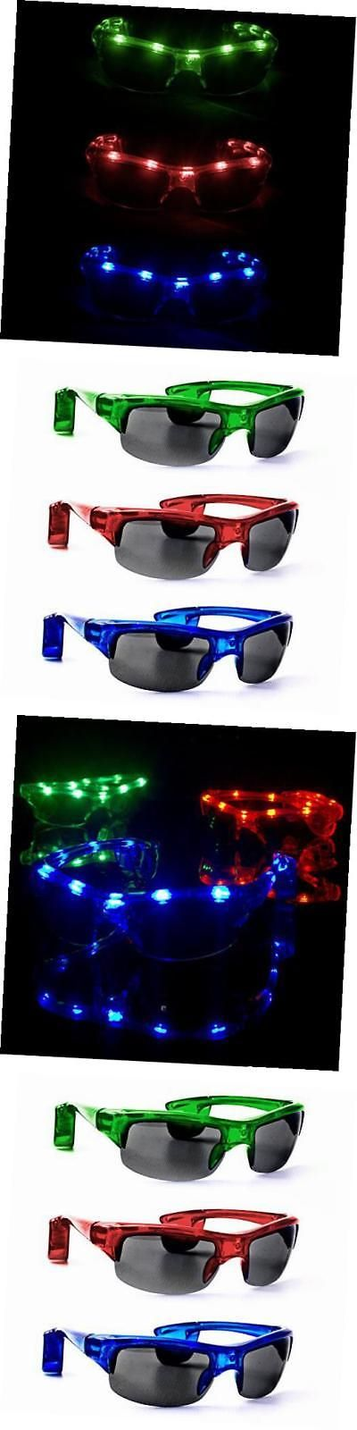 Glow Sticks and Glow Jewelry 108388: X713 Led Light Up Sporty Sunglasses -Assorted Colors - 12 Pack -> BUY IT NOW ONLY: $41.49 on eBay!