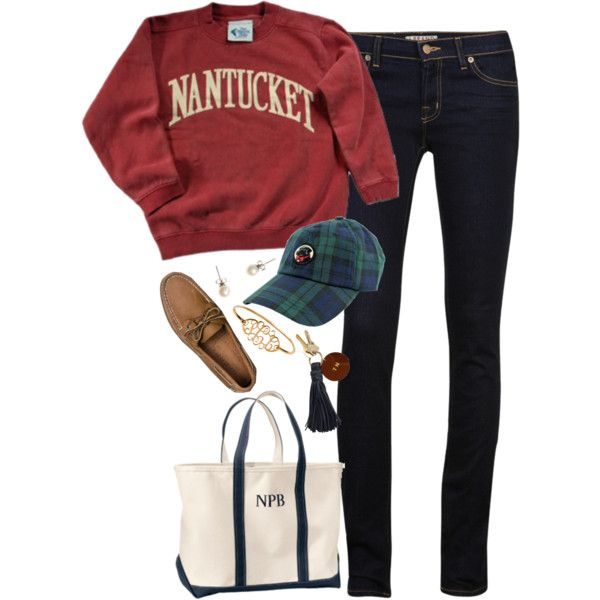 A fashion look from January 2014 featuring J Brand jeans, Sperry shoes and L.L.Bean tote bags. Browse and shop related looks.