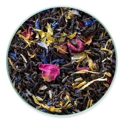 [energizer] Victorian Earl Grey + black tea + lavender + bergamot oil + rose petals + marigolds + cornflowers