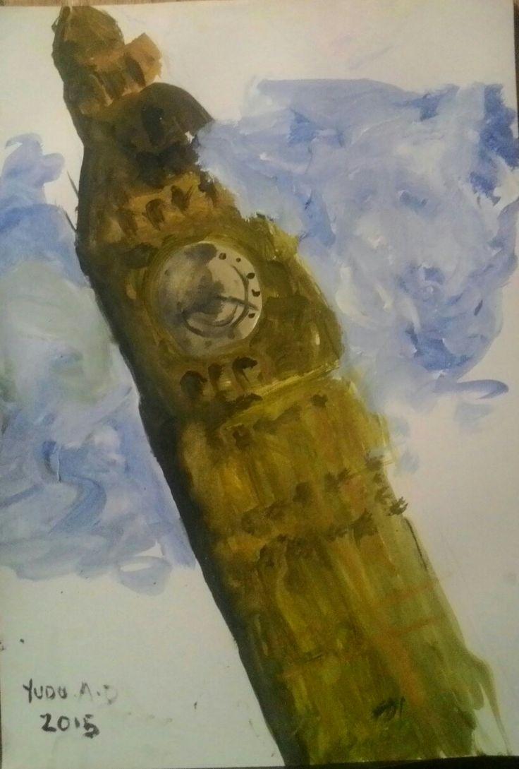 London o'clock Akrilik diatas kertas