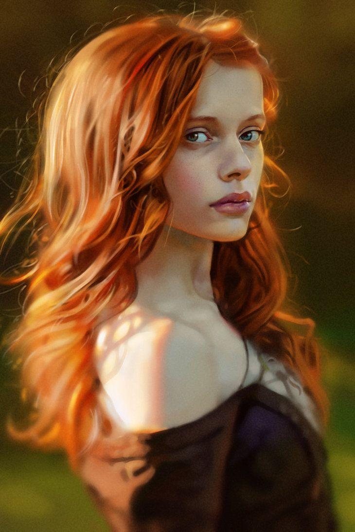 Beautiful redhead long