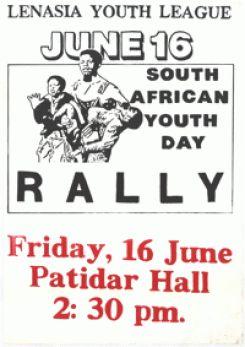 Lenasia Youth League: June 16: rally