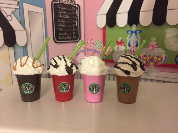 Starbucks drinks for your Anerican Girl doll by lilyvictoria