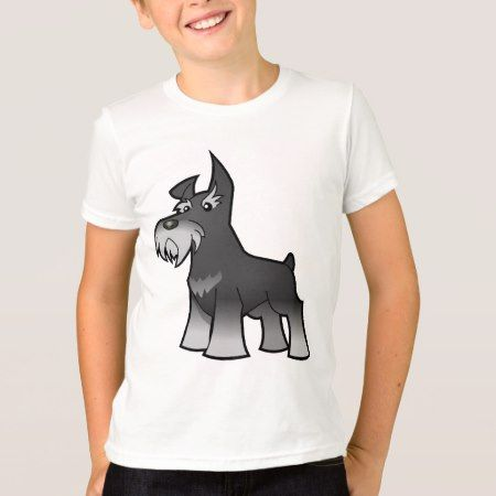 Cartoon Schnauzer (salt & pepper) T-Shirt - tap, personalize, buy right now!
