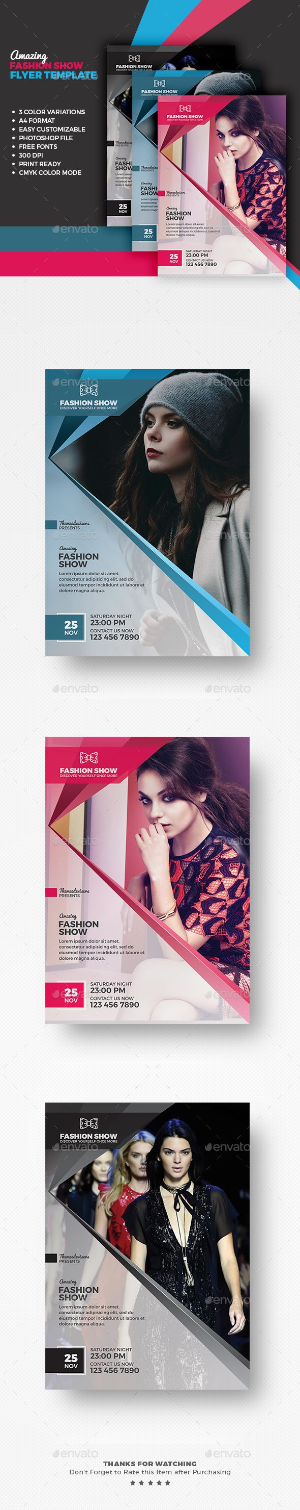 Fashion Flyer / Poster - Events Flyers Template for any Fashion related event promotion. Download http://graphicriver.net/item/fashion-flyer-poster/15693765?ref=themedevisers