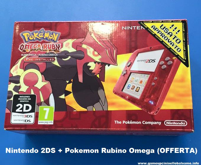 Nintendo 2DS rosso + Pokemon Rubino Omega (Offerta)