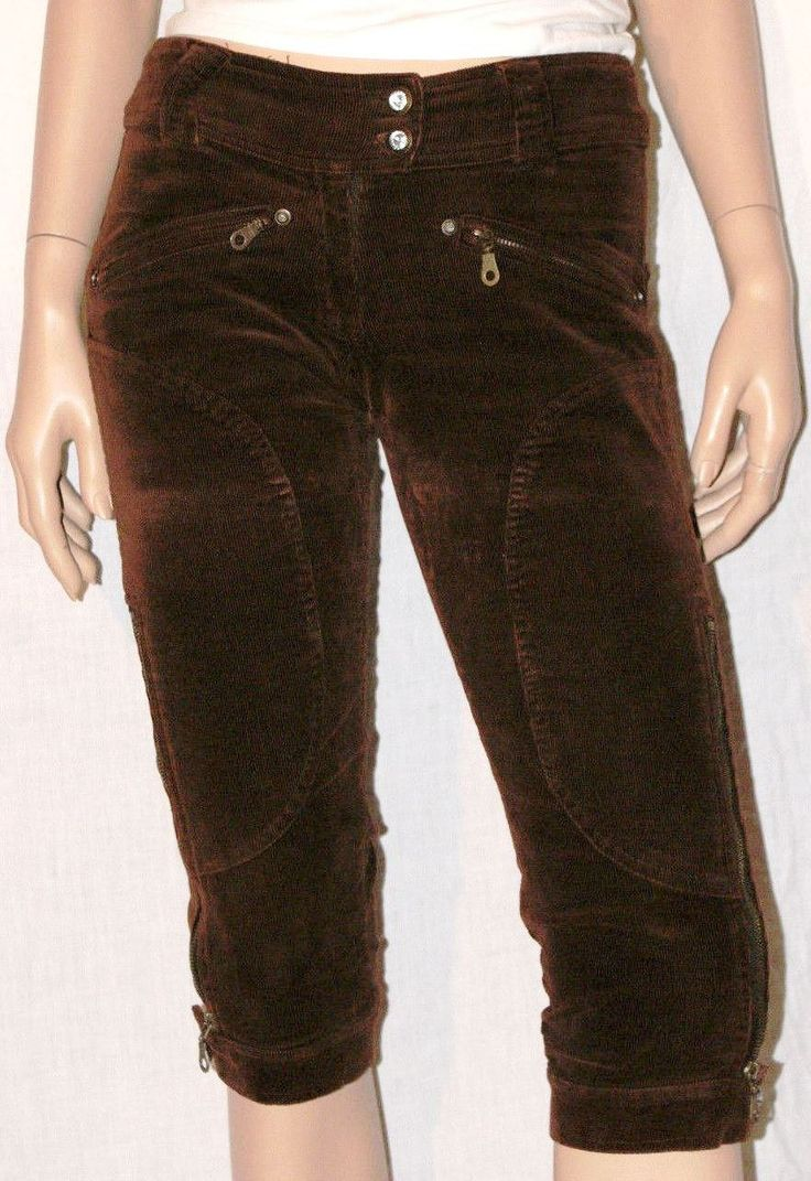 Warm & Elegant Brown Corduroy Woman Capri Pants Size S Pantaloni Pinocchietto Capri da Donna in Velluto a Coste Sottili Marroni Taglia S di BeHappieWorld su Etsy