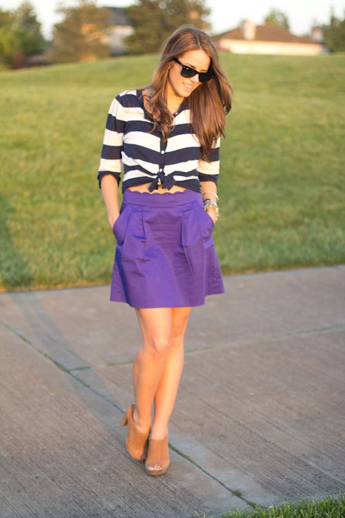 Cute: Gal Meeting, Skirts, Misc Style, Meeting Glam, Based Style, Schools Style Mi, Amazing Colors, Weekend Stripes, Fashion Style Day