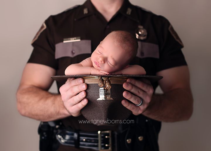 Tulsa Newborn Photographer Owasso Newborn Photographer Collinsville Newborn Photographer Oklahoma Highway Patrol www.tgnewborns.com