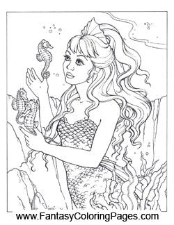 the 56 best images about coloring pages - mermaids and fishies on ... - Coloring Pages Pretty Mermaids