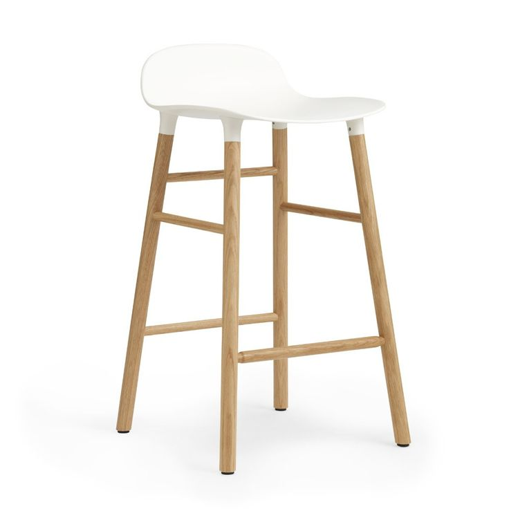 Normann+Copenhagen+Form+Barstool+65cm+-+Oak+-+Contemporary+plastic+shell+barstool+with+oak+legs. Add+the+stylish+finishing+touches+to+your+open-plan+kitchen+interior+with+the+Normann+Copenhagen+Form+Barstool+-+Oak. Created+by+Simon+Legald,+the+purpose+of+Form+was+to+redesign+the+traditional+shell+barstool+with+a+more+unified+design. Celebrating+an+integrated+design,+Normann+Copenhagen+have+developed+new+technology+to+join+the+seat+seamlessly+with+the+legs. In+a+choice+of+radiant+colours,...
