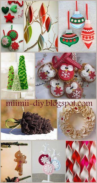 MiiMii - rękodzieło dla mamy i córki.: Świąteczne ozdoby z filcu- mnóstwo inspiracji DIY....
