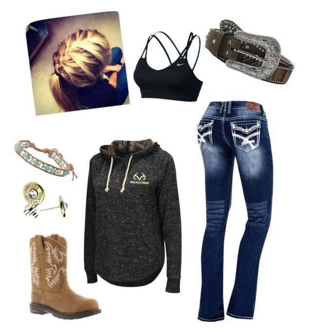 """""""Everyday style"""" by mcjarvis94 ❤ liked on Polyvore featuring Chan Luu, Ariat, Realtree, NIKE and M&F Western"""