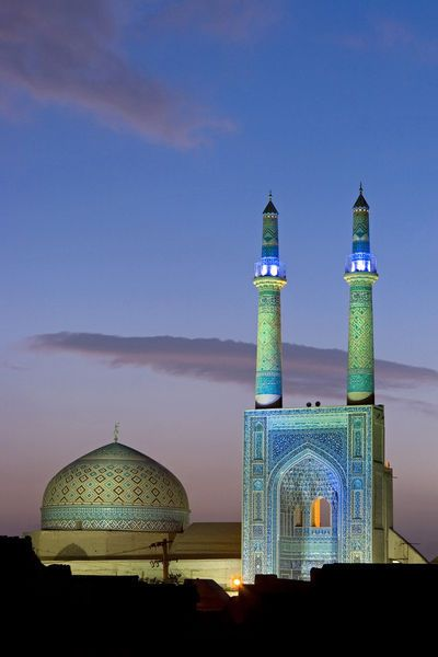 Jameh Mosque, Yazd, Iran  photo by Jon Arnold Images