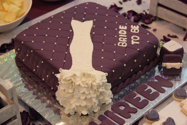 time2partay.com: Purple and White Bridal Shower  #bridalshowercakes #cakes #sukkarcakes