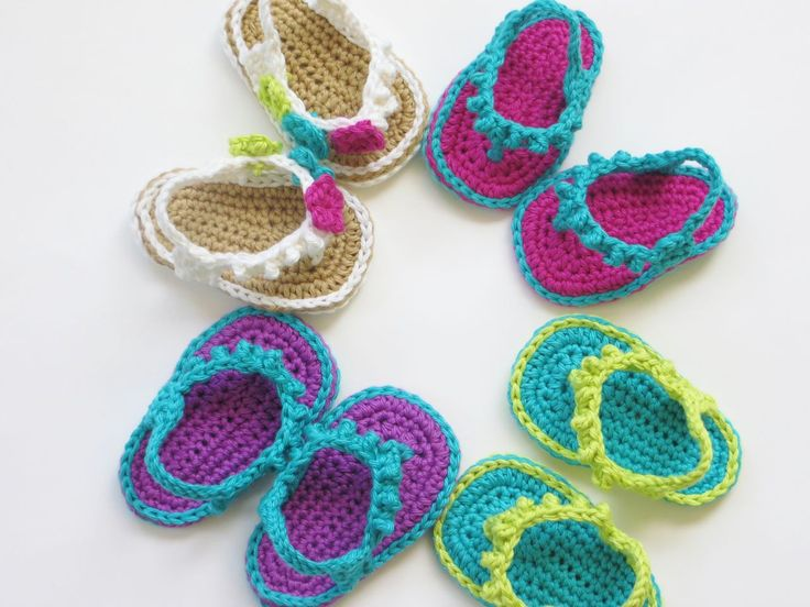 Knitting Pattern For Flop : Flip Flops for Baby Girls Crochet Pattern Wool Pinterest Knitting patte...