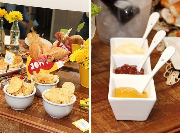 Festa do Sanduiche Batata chips e Condimentos Como organizar festas