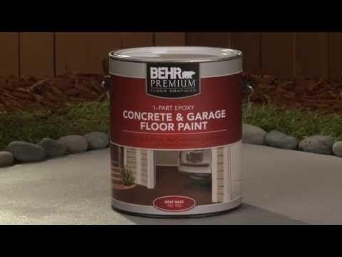 How to Apply BEHR PREMIUM® 1-Part Epoxy Concrete and Garage Floor Paint | Behr Paint