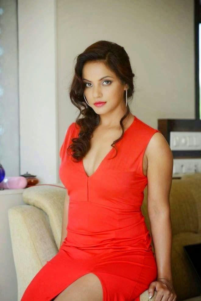 Neetu Chandra Hot in Red Dress | Cine Gallery