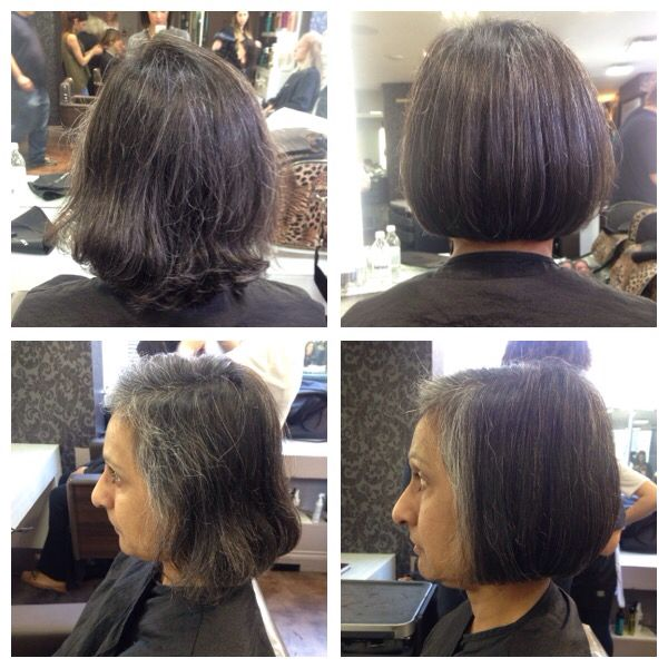 Sharp one length Bob, taking off two inches to tidy up all around! Smooth blowdry  28/9/15