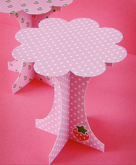 - Make a cardboard cupcake stand
