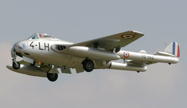 UK's jet-powered de Havilland Vampire fighter was subsequently license-built for the French air force as the Mistral by Sud Est in Marignane. Design modifications included increasing the Mk 5 variant's top speed to 500kt (925km/h) and installing a French-designed ejection seat. More than 200 Vampires were eventually manufactured for the French service.