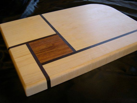 Walnut and Maple Cutting Board by DPcustoms on Etsy
