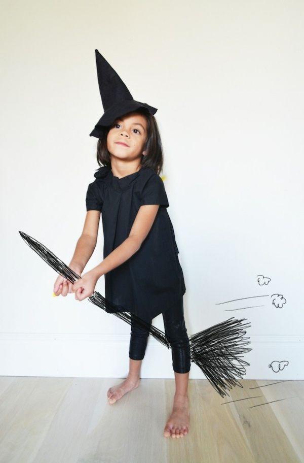 süße Hexe Fasching Kostüme originelle Idee Hut