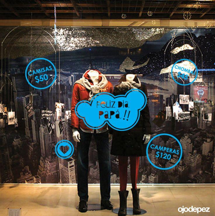 Vinilos Día del Padre 004: Vinilos decorativos Día del Padre Vinilos adhesivos vidrieras escaparates show window Window Display Wall Art Stickers wall stickers