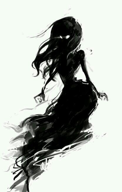Beautiful Black, shadow, lady, thing.