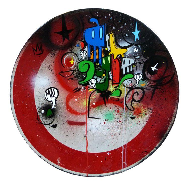 Willow, Le Fil Rouge, smalto su metallo, diametro cm 60, 2015