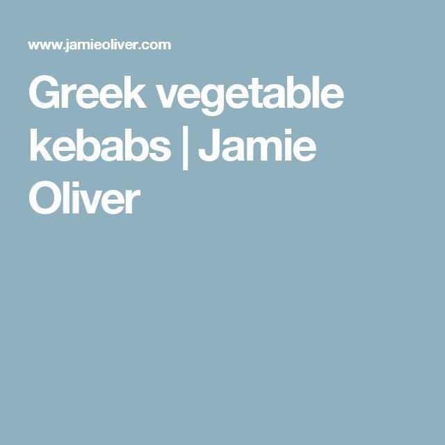 Greek vegetable kebabs | Jamie Oliver