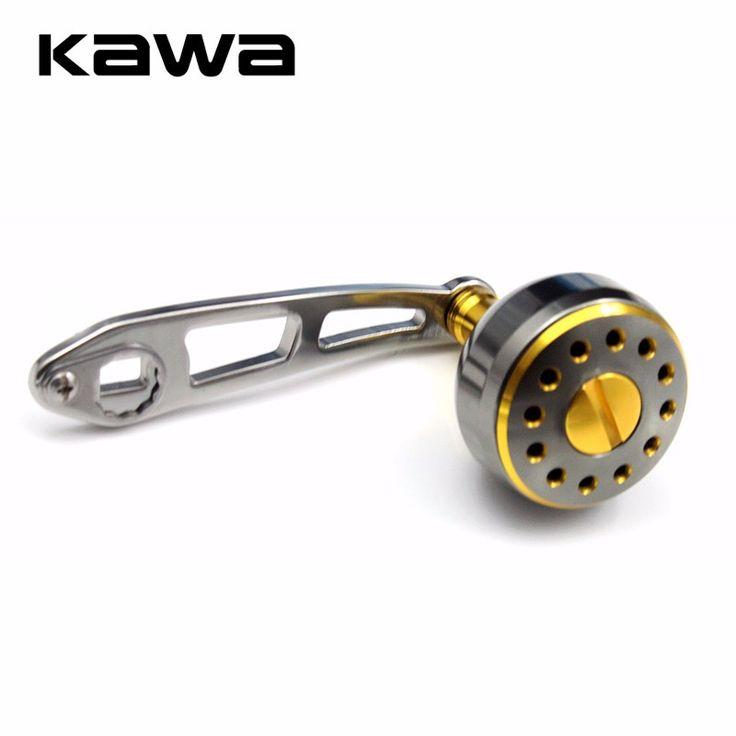 Kawa Aluminum Alloy Fishing Reel Rocker Strong Durable Single Fishing Reel Handle Hole Size 8*5mm Suit for Abu and Daiwa Reel