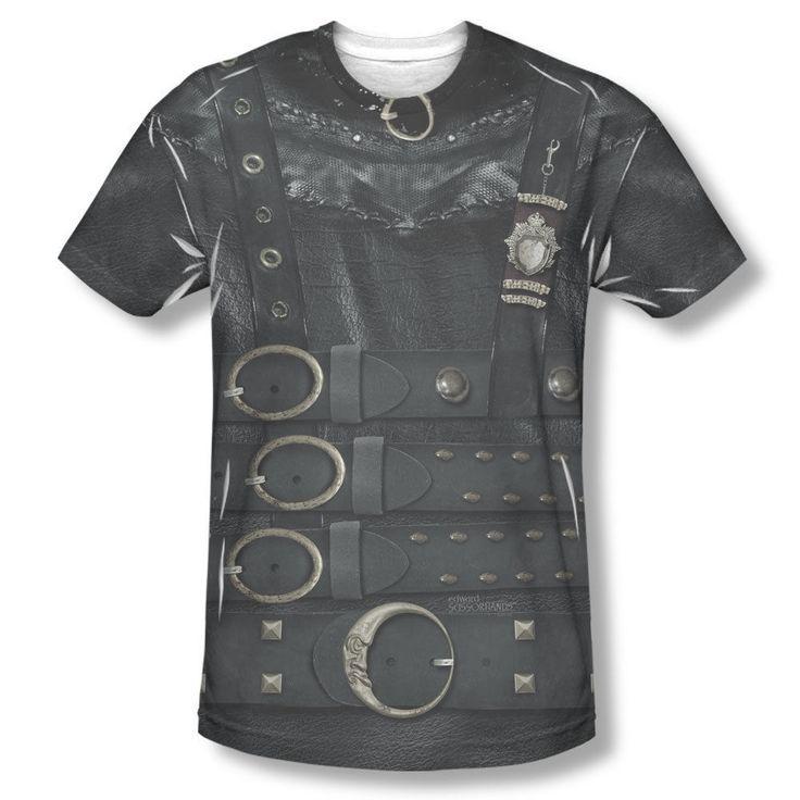 New Edward Scissorhands Movie Johnny Depp Costume All Over Front Men T-shirt Top Mens Sizes: S, M, L, XL, 2XL