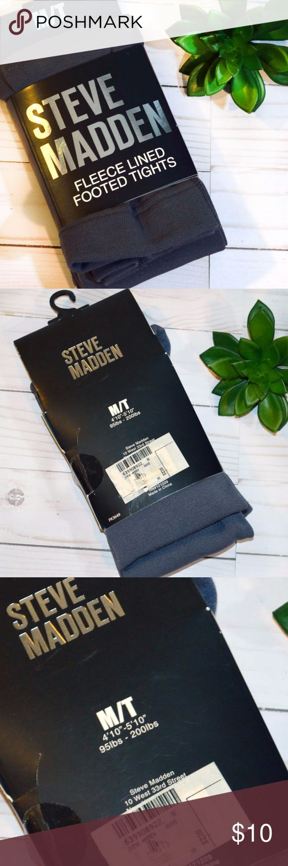 "Steve Madden Gray Fleece Lined Footed Tights M/T New Fleece Lined Footed Tights  Size: M/T Height:  4""10"" - 5' 10"" Weight:  95lbs - 200 lbs Steeve Madden Accessories Hosiery & Socks"