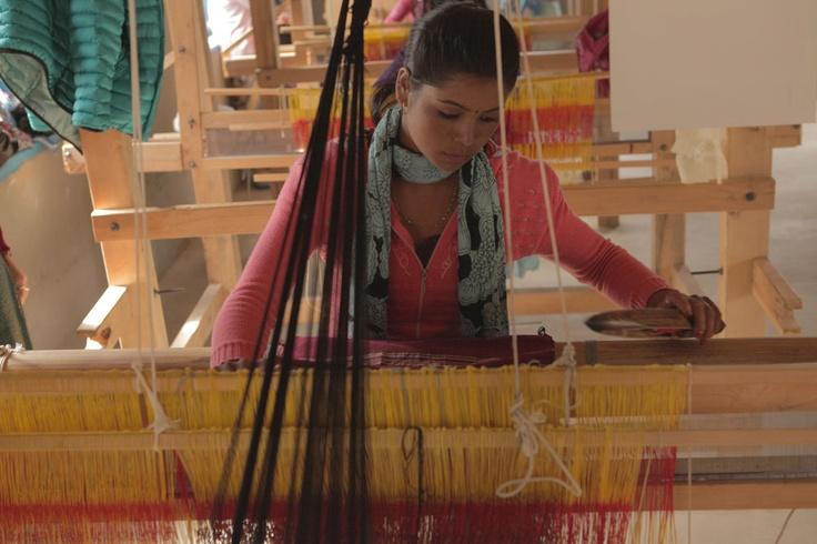Student training on loom