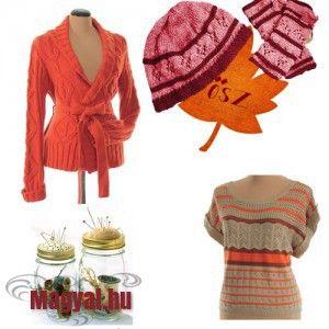 Őszi divat - Narancs, tök, kötött