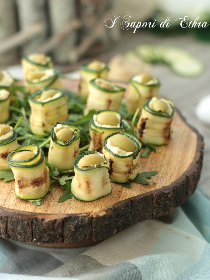 Rotoli di zucchine con crema di ceci e stracchino