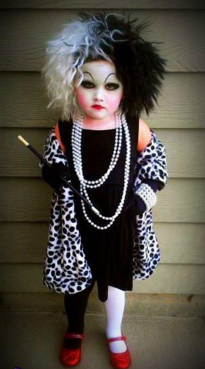 Quatang Gallery- Cruella D Enfer Les Deguisements Pour Une Petite Fille Deguisement Halloween Cruella Fille Costumes Effrayants Deguisement Halloween Deguisement Enfant