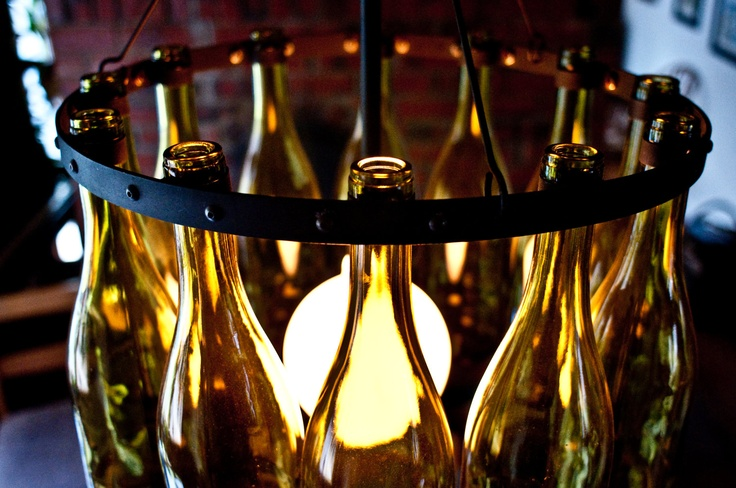 Recycled wine bottle chandelier for the home pinterest wine bottle chandelier bottle - Wine bottles chandelier ...