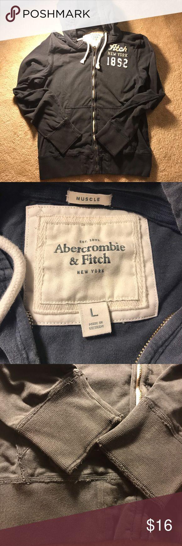 Abercrombie Men's Hoodie Navy blue color. Great hoodie! Abercrombie & Fitch Shirts Sweatshirts & Hoodies