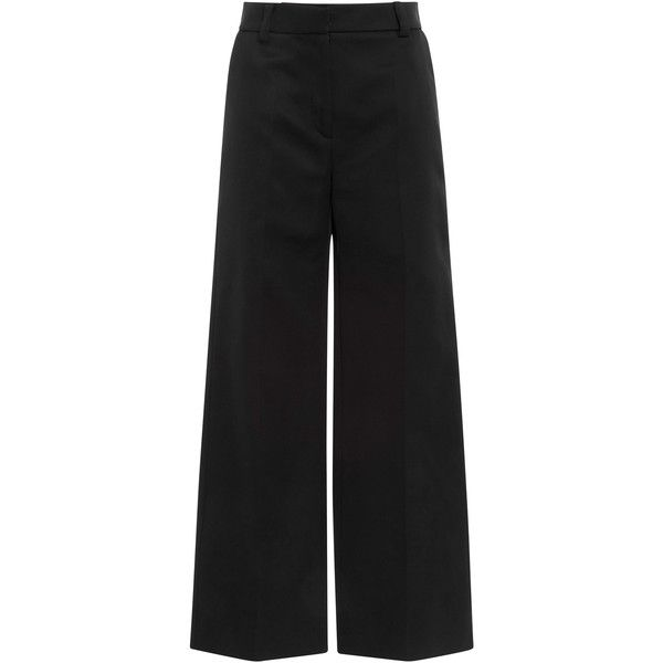 Jeffrey Dodd Cropped Anna Pant ($895) ❤ liked on Polyvore featuring pants, capris, black, wide leg pants, wide leg cropped trousers, cropped capri pants, wide leg trousers and cropped pants