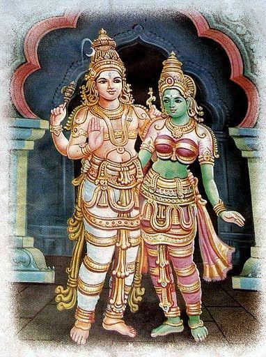 Shiva and Parvati Adidampatulu.