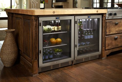 I wonder how energy efficient they are compared to a conventional fridge.  They certainly look nicer than one of those big ol' boxes, the way they are all tucked away under the counter!
