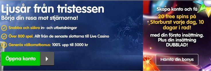 Ny Bonus på Casino Room - 5000 kr + 200 Free Spins!