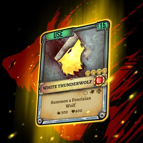 White Thunderwolf card giveaway! More information you can find here: http://on.fb.me/1CKM0zg #Warhammer #SpaceWolf #HeroCraft #Game #AppStore